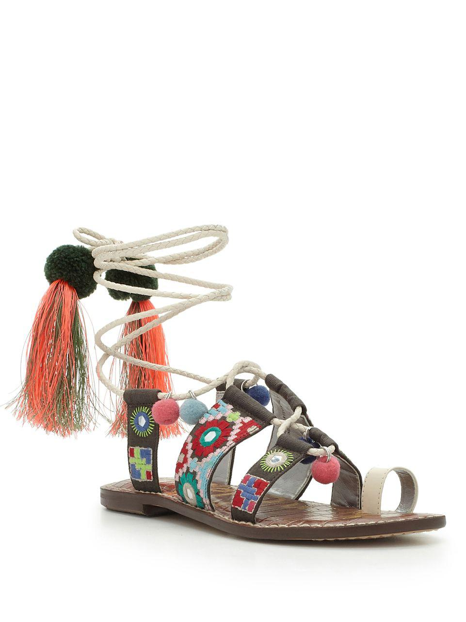 5665e448a8b Lyst - Sam Edelman Gretchen Leather Toe-ring Sandals in White