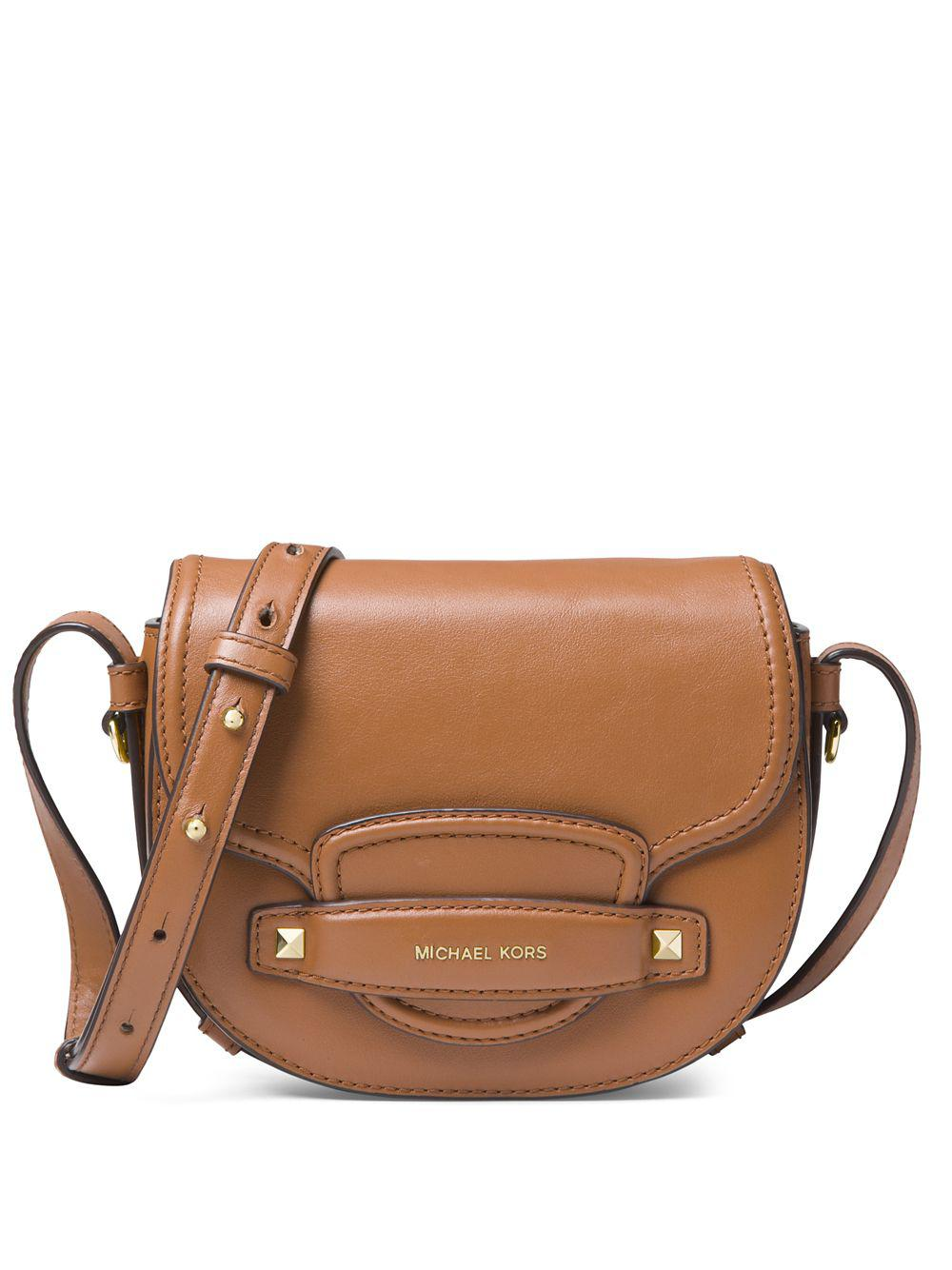 1c7a2ca4d755 Michael Michael Kors Cary Saddle Crossbody Bag in Brown - Lyst