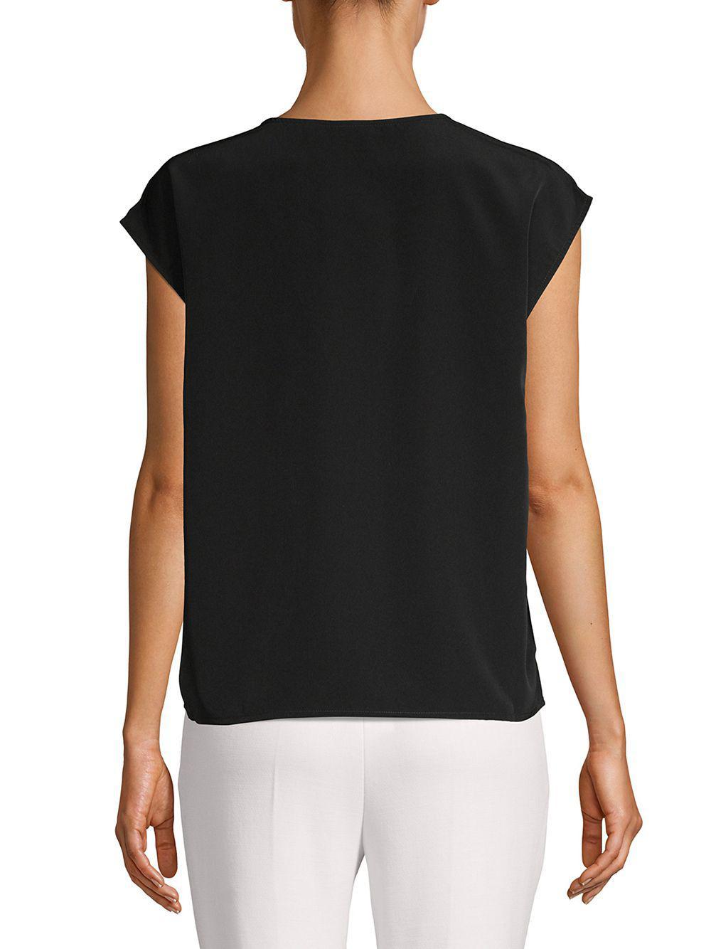 7c4f831eb5785 Vero Moda - Black Lace V-neck Top - Lyst. View fullscreen