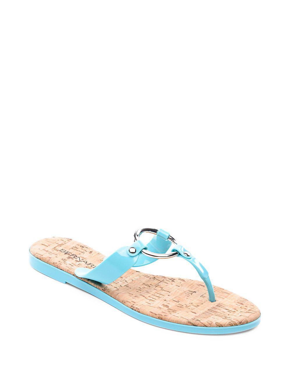 db967fb5cfd Lyst - Bernardo Matrix Jelly Rubber Thong Sandals in Blue