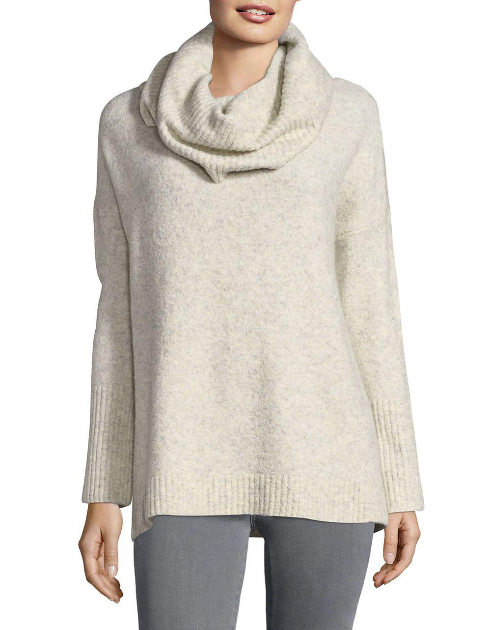 French connection Textured Cowlneck Sweater | Lyst