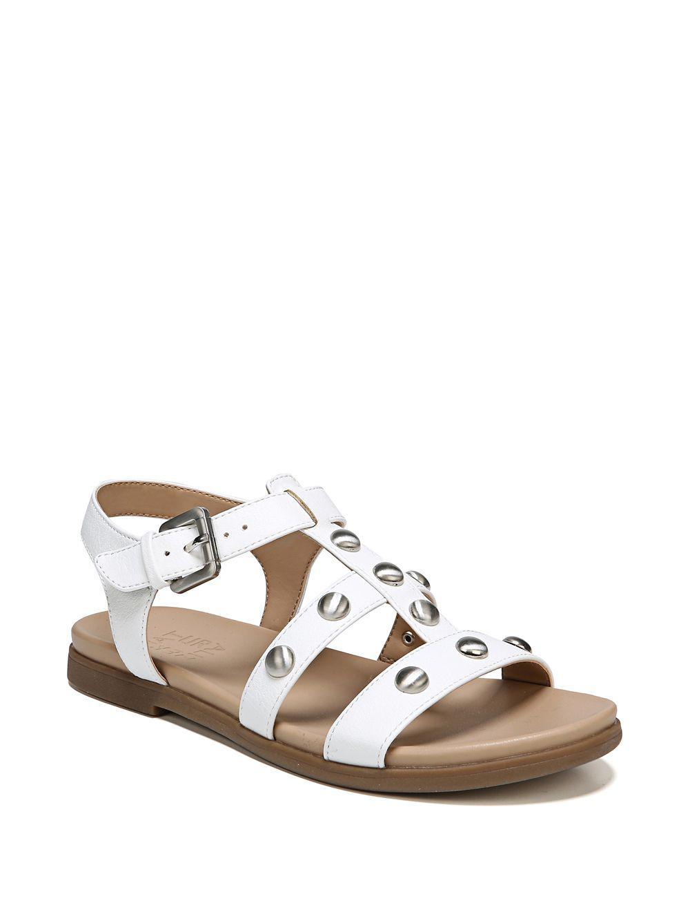 e62b6ba04b50 Naturalizer Davi Slingback Sandals in White - Lyst