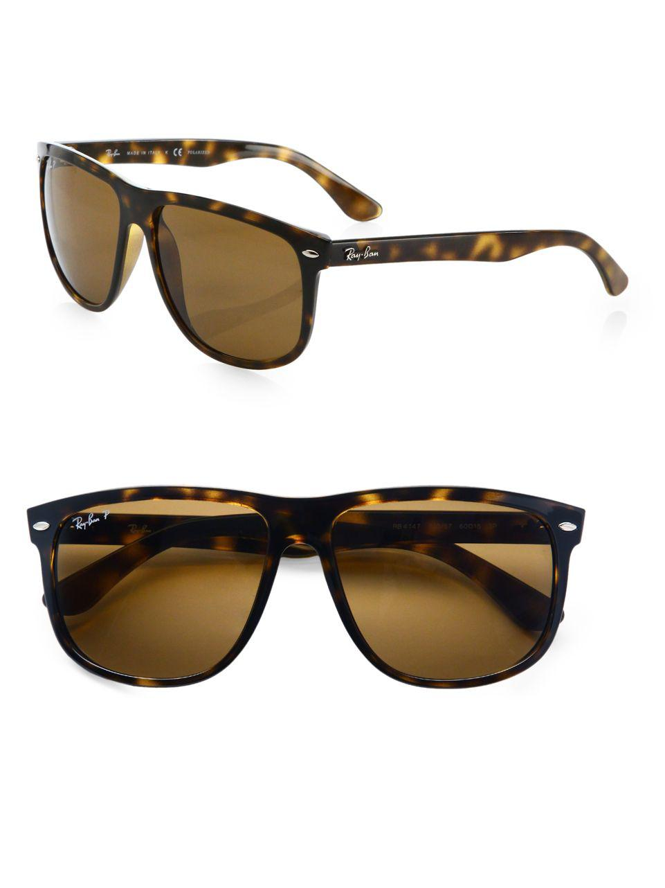 ace11e73b0 Lyst - Ray-Ban 60mm Flat-top Boyfriend Wayfarer Sunglasses