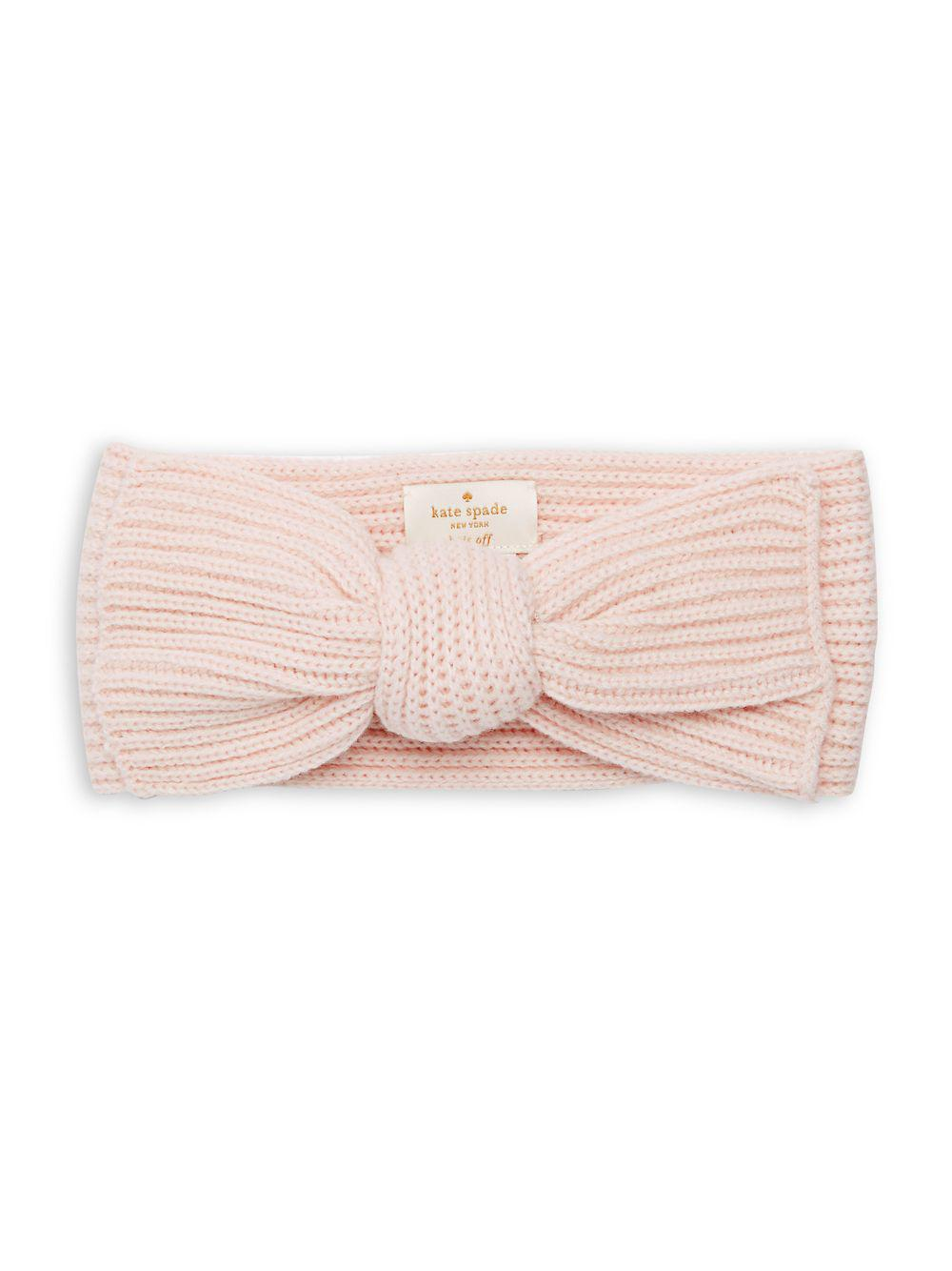 4a06382a264 Kate Spade - Pink Solid Bow Headband - Lyst. View fullscreen