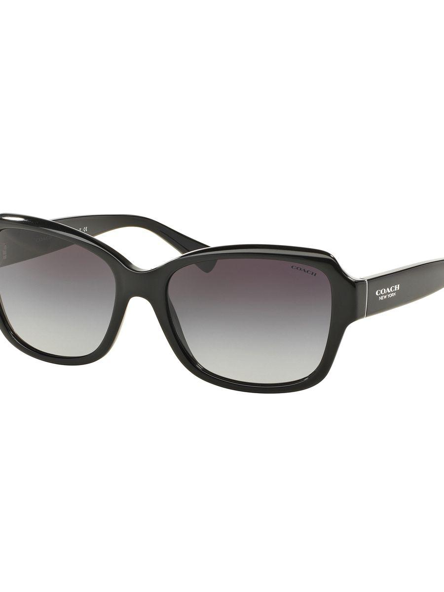 f0f6935227 ... where to buy coach legacy butterfly 56mm rectangular sunglasses in  black lyst efeaf 1260f