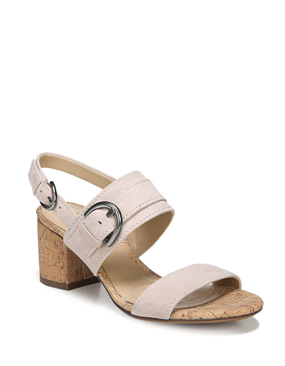 17a8ef7320 Lyst - Naturalizer Camden Kid Suede Slingback Sandals in Gray
