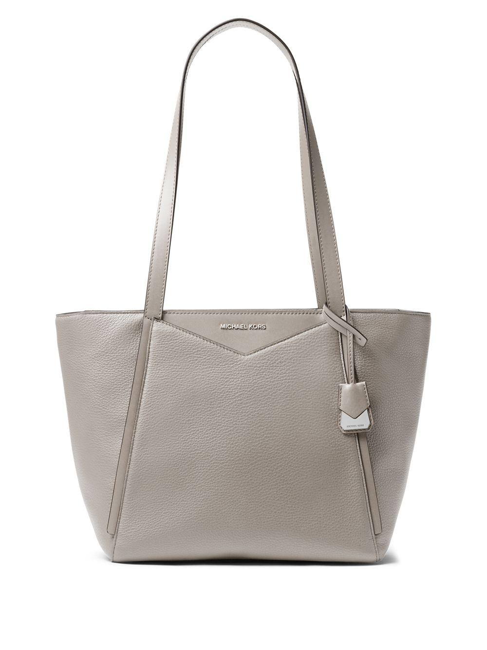 4018d34b9db4 Michael Michael Kors Whitney Small Leather Top Zip Tote in Gray - Lyst