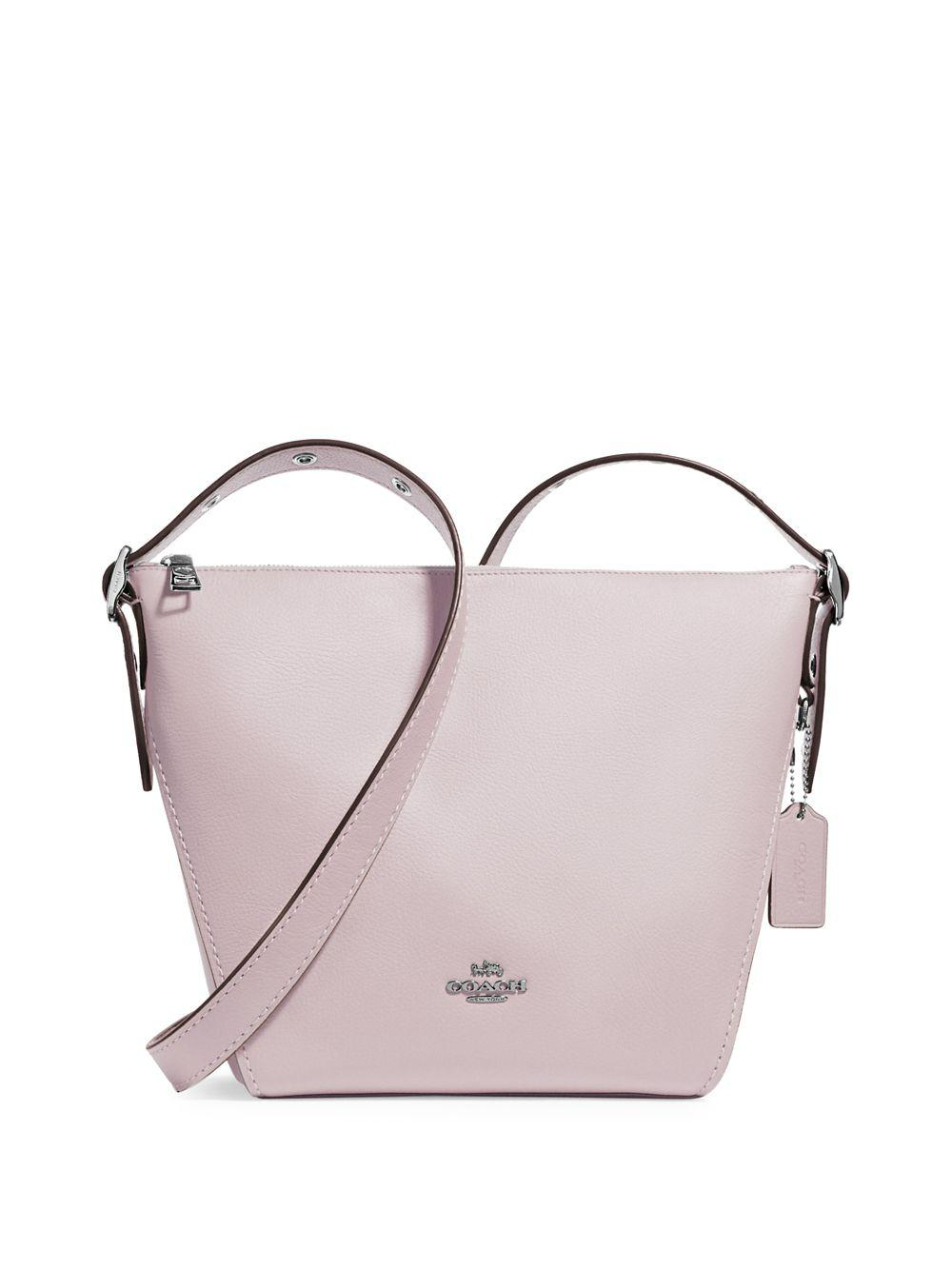 80b383b0be1d Coach Small Leather Dufflette Bag in Pink - Lyst