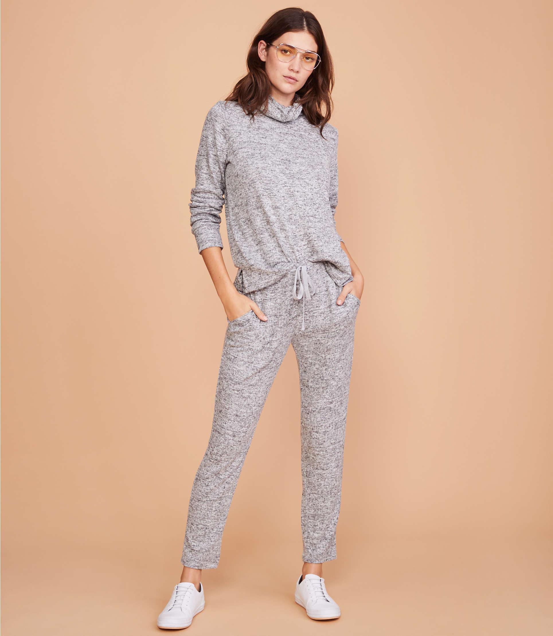 814dd848155c0 Lyst - Lou & Grey Brushmarl Sweatpants in Gray