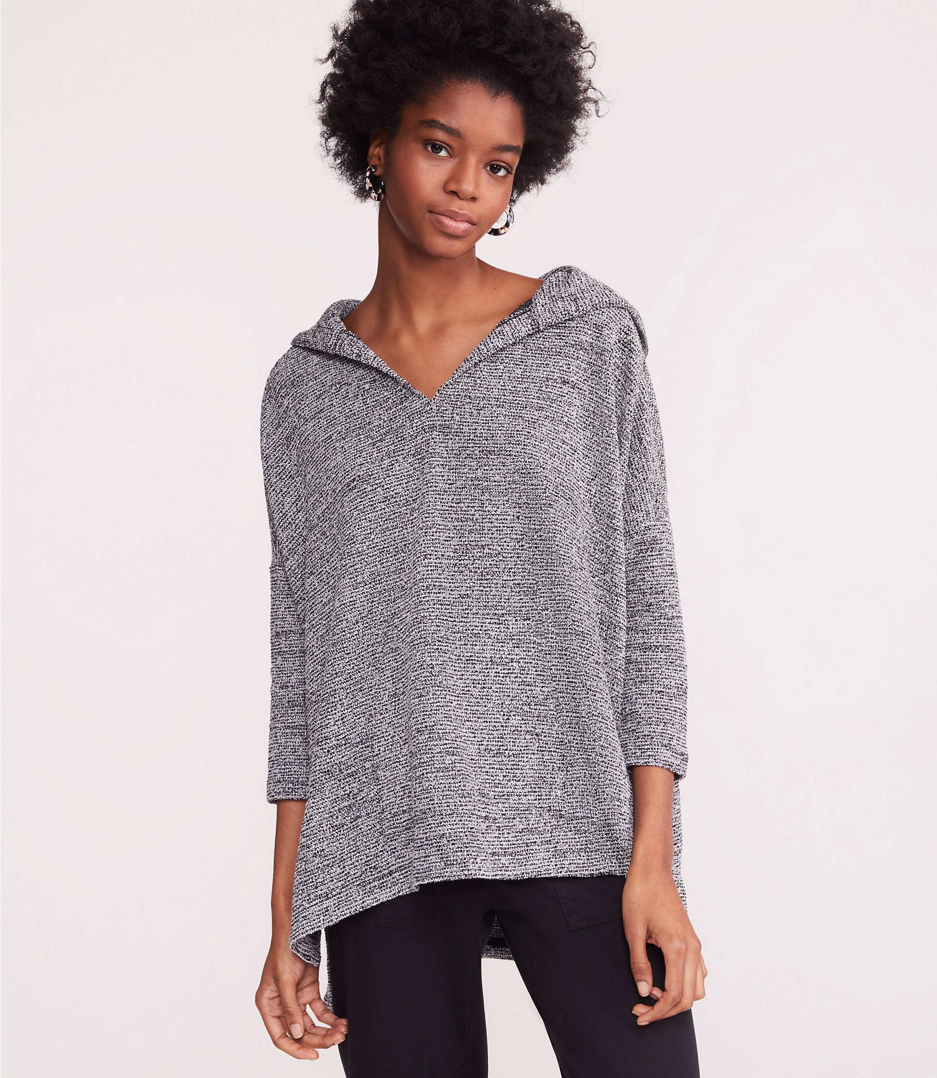 e33219ff00fa7 Lyst - Lou & Grey Boucle Tweed Hoodie Top
