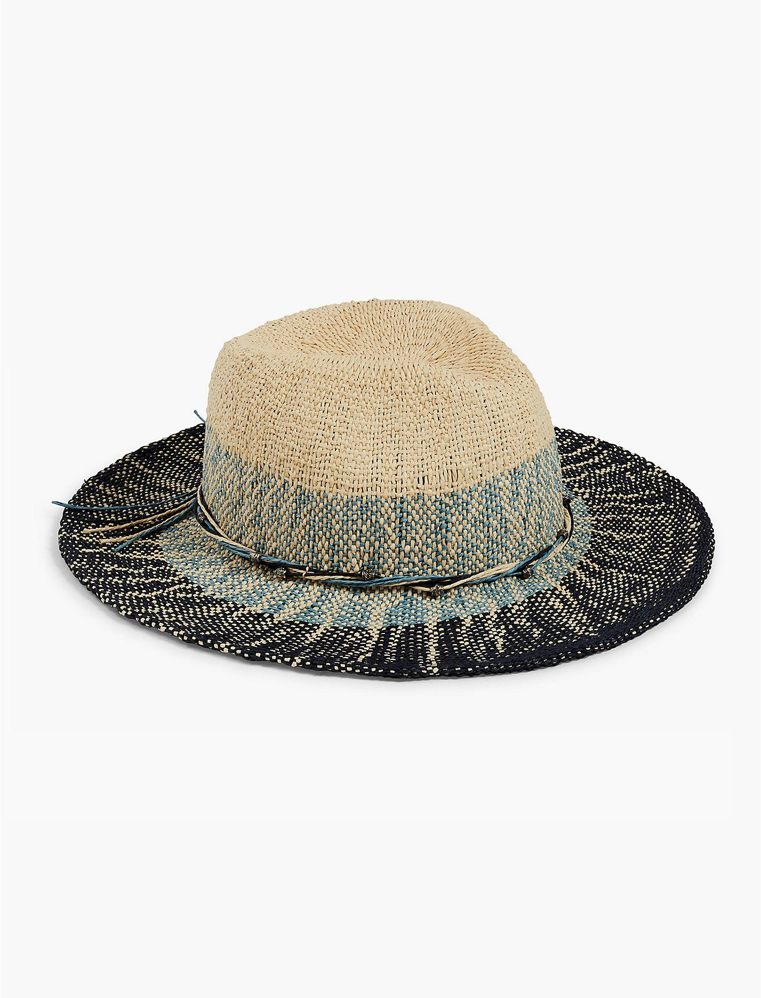 be1b9bd9ba1cc Lyst - Lucky Brand Ombre Two Tone Panama Hat