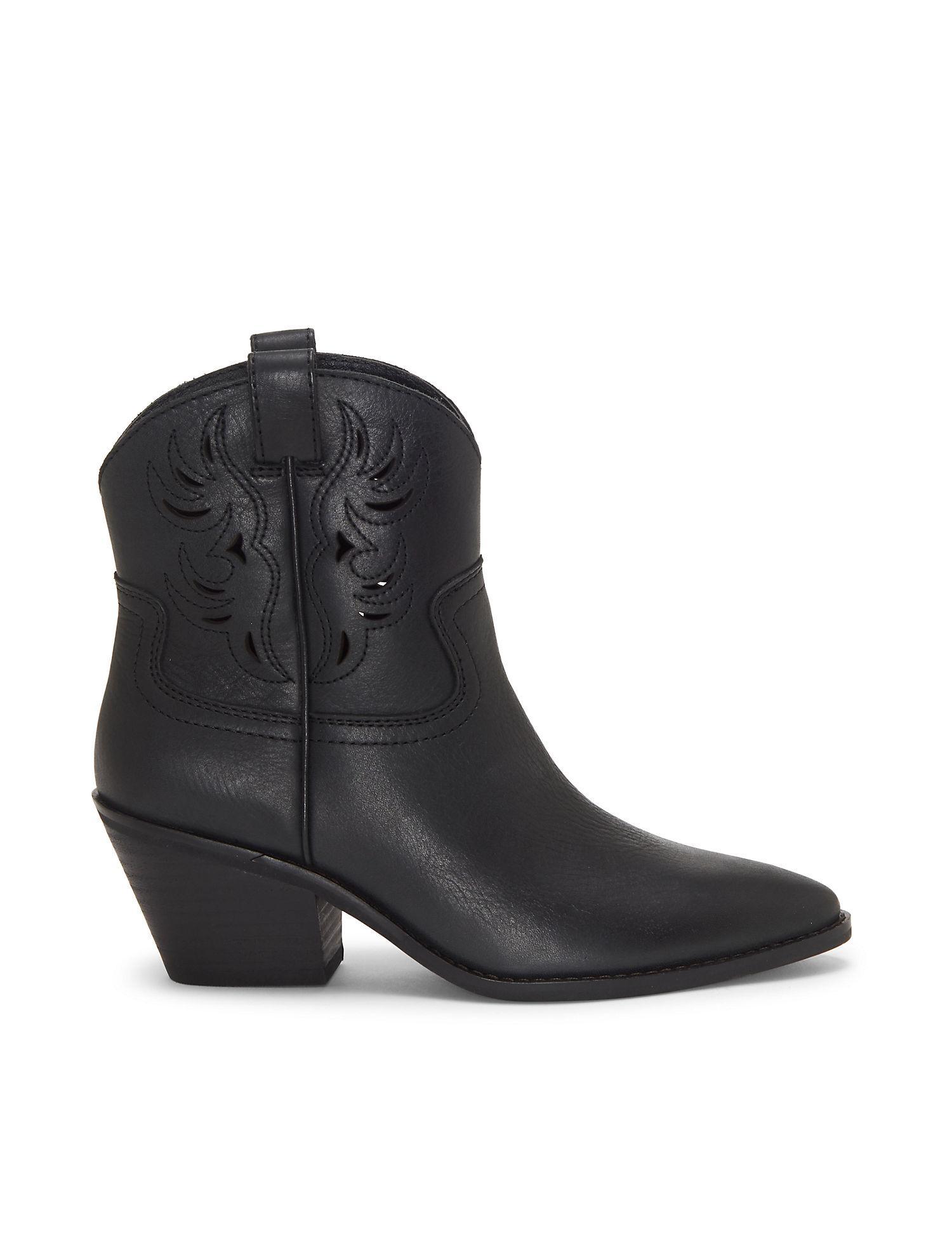 b55b6615b30 Lyst - Lucky Brand Talouse Western Bootie in Black
