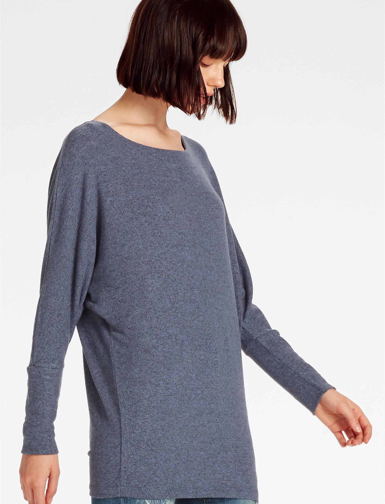 Lyst Lucky Brand Cozy Dolman Sweatshirt In Blue