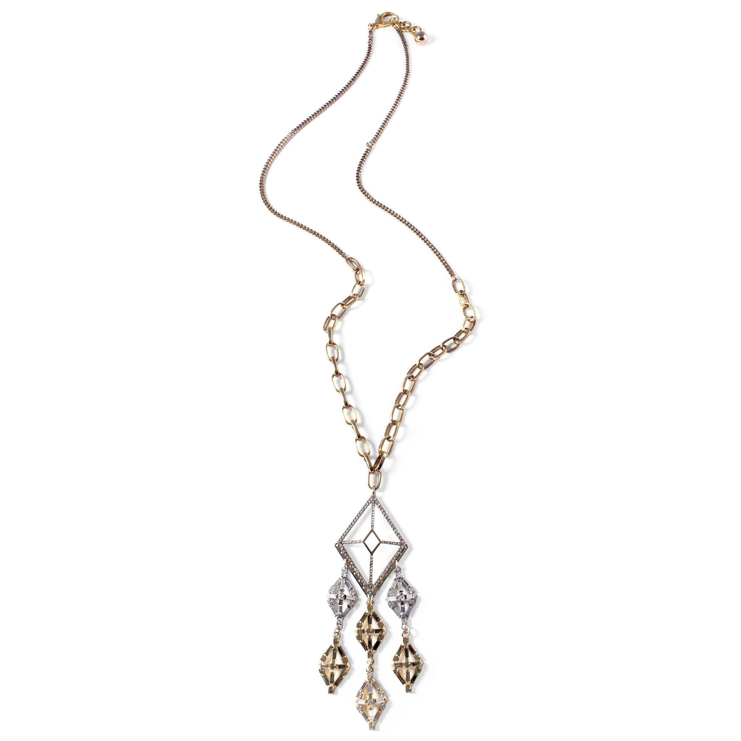 Lulu Frost Gloria Long Crystal Pendant Necklace JnDcK