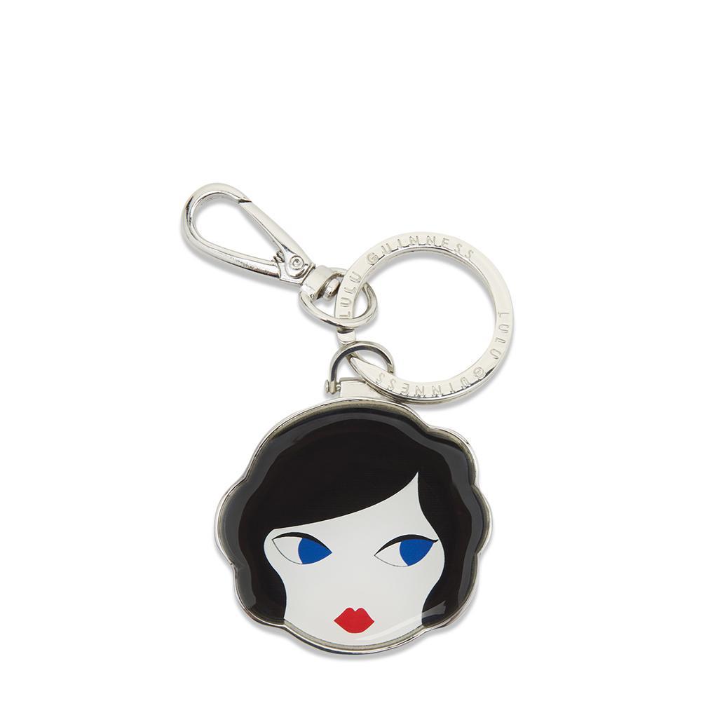 Womens Lulu Doll Face Keyring Black (Black/White) Lulu Guinness 935dNXEzi