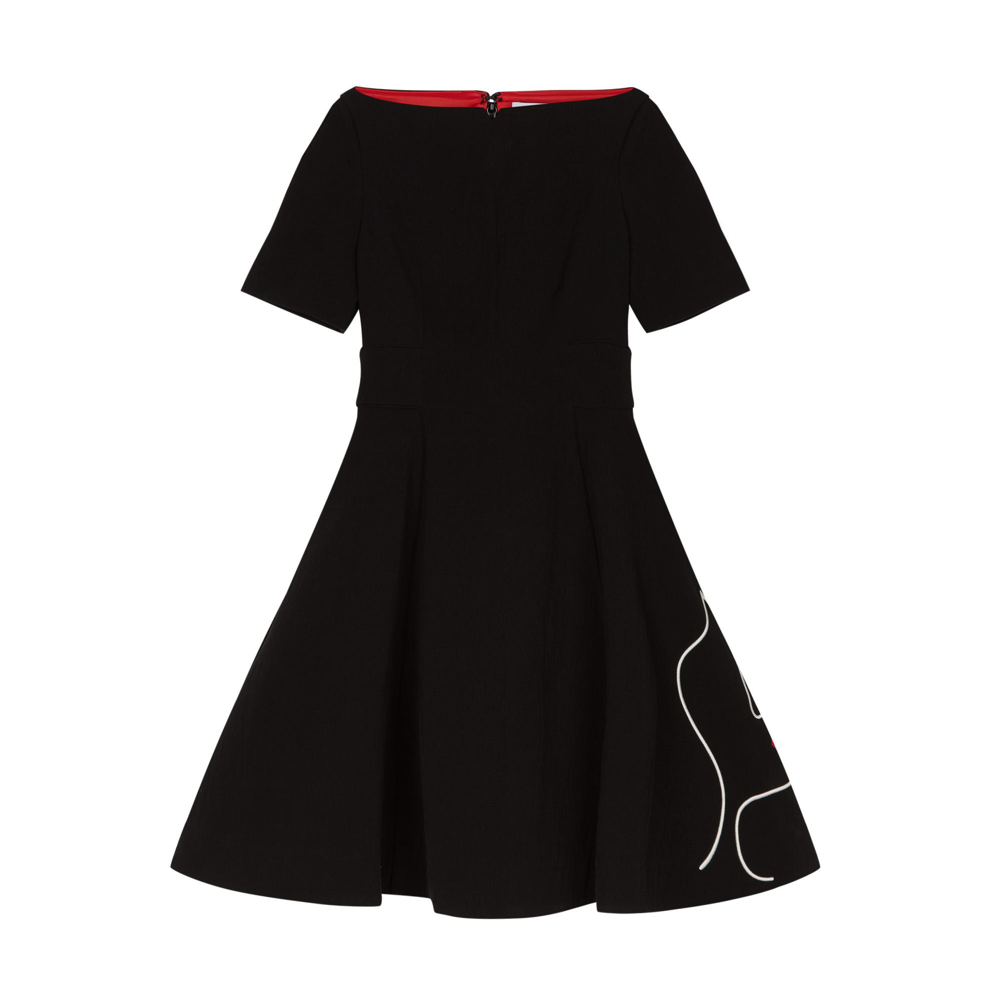 Lulu Guinness Synthetic Kissing Lips Dara Dress In Black
