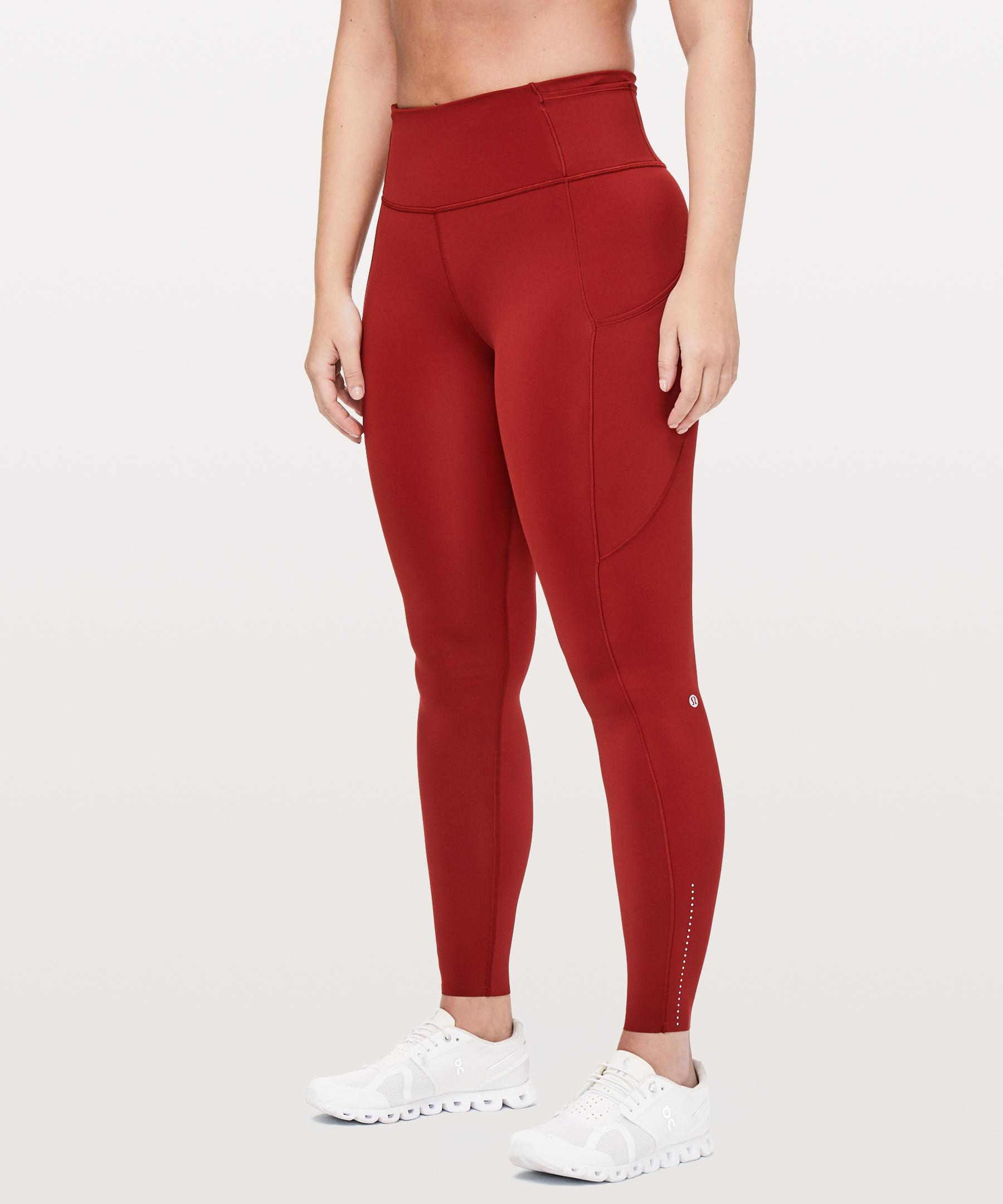 abb46854508a74 lululemon athletica Fast And Free Tight in Red - Lyst