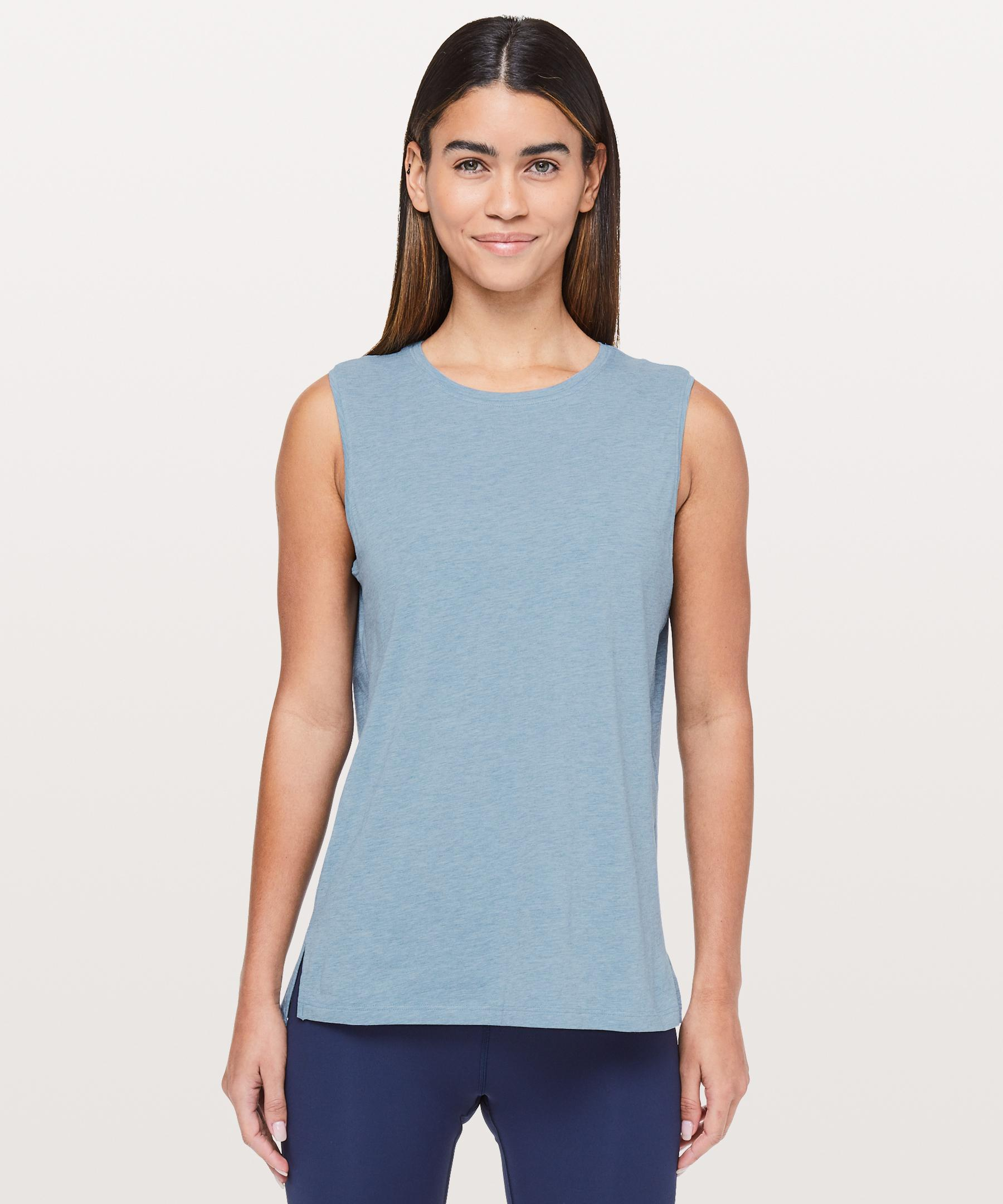 e4900f5a8e011c Lyst - lululemon athletica Love Sleeveless Tank in Blue