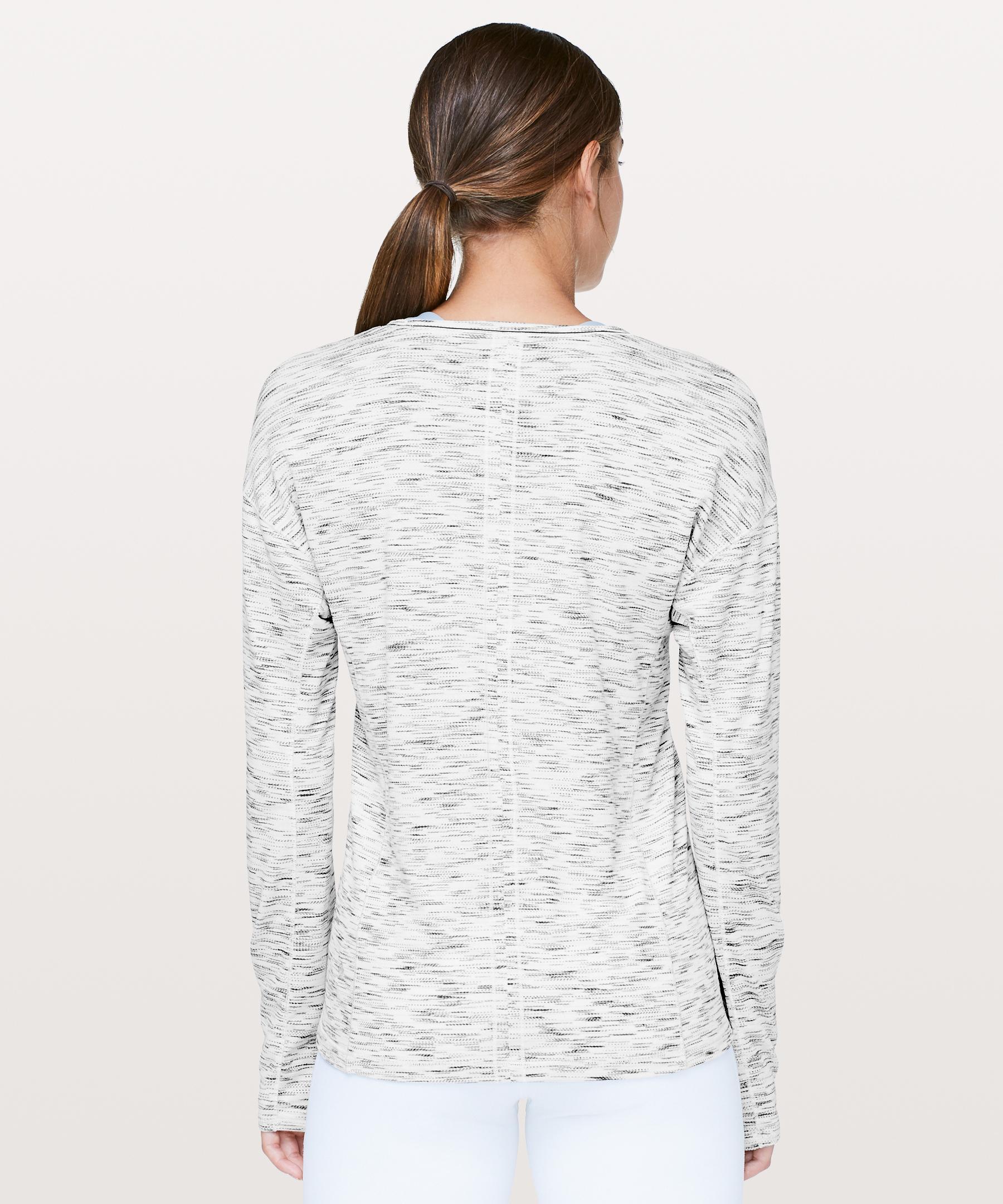 8f06017b20 Lyst - lululemon athletica Sweat Embrace Long Sleeve in White