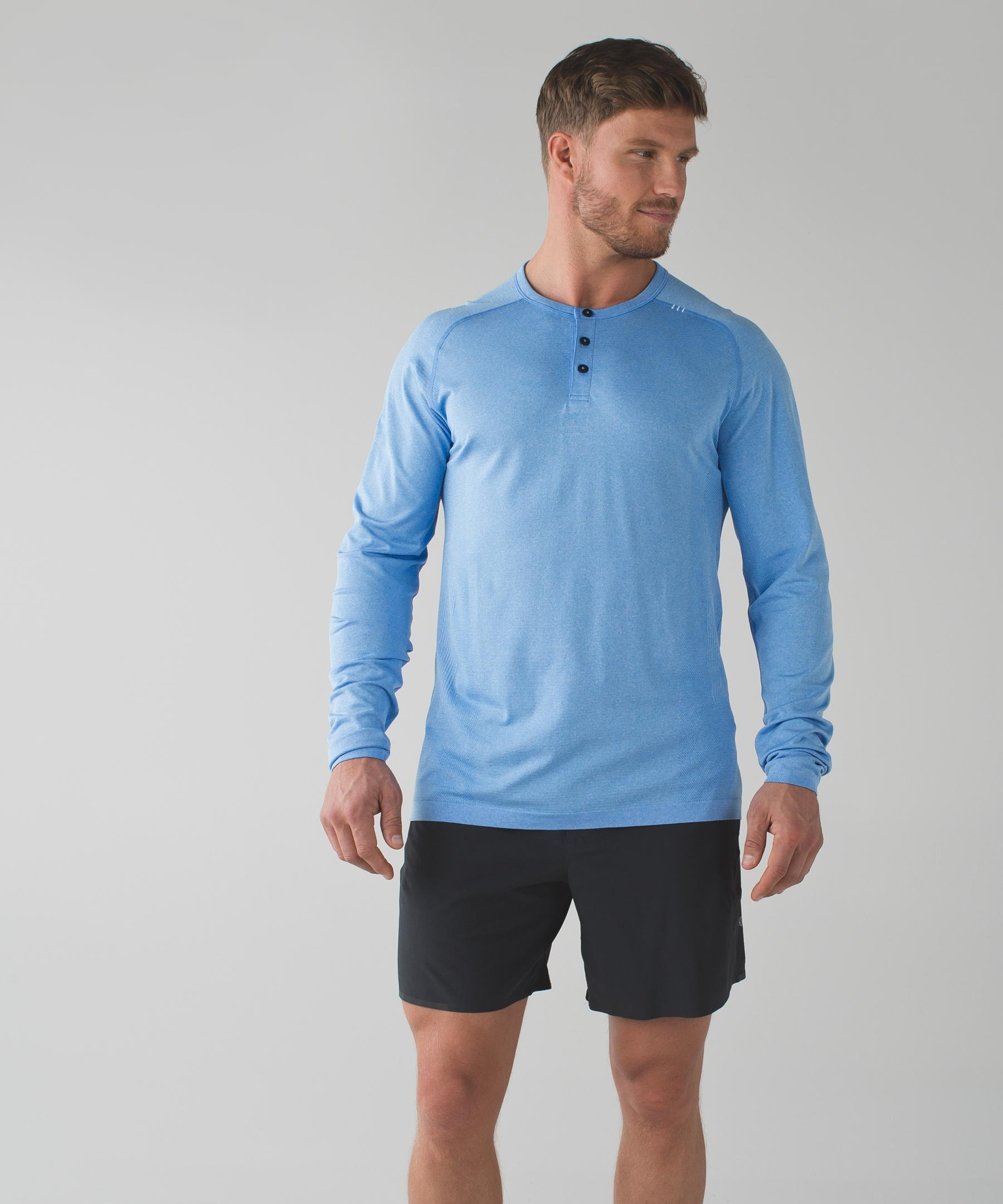 831a1ccd43e52e Lyst - lululemon athletica Metal Vent Tech Long Sleeve Henley in ...