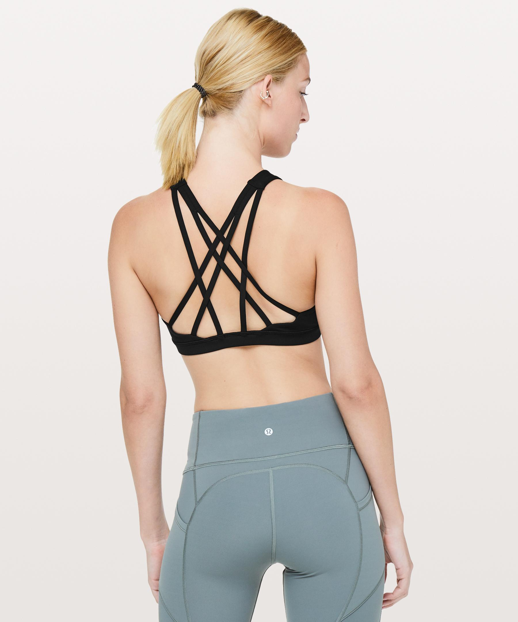 3f9ccd6512 Lyst - lululemon athletica Free To Be Serene Bra  high Neck in Black