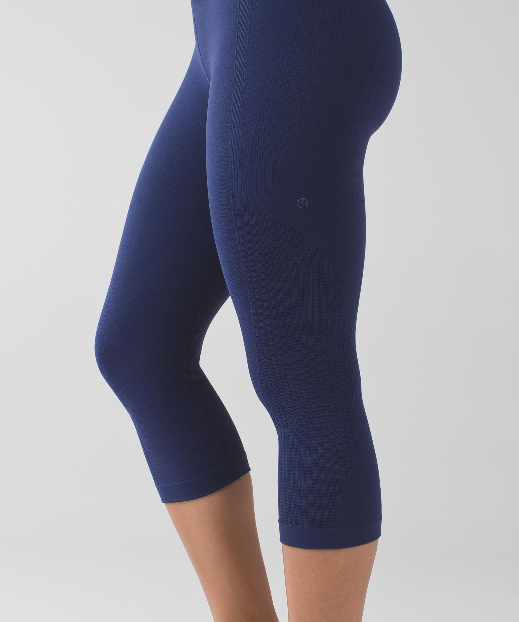 101c17b144 lululemon athletica Flow & Go Crop in Blue - Lyst