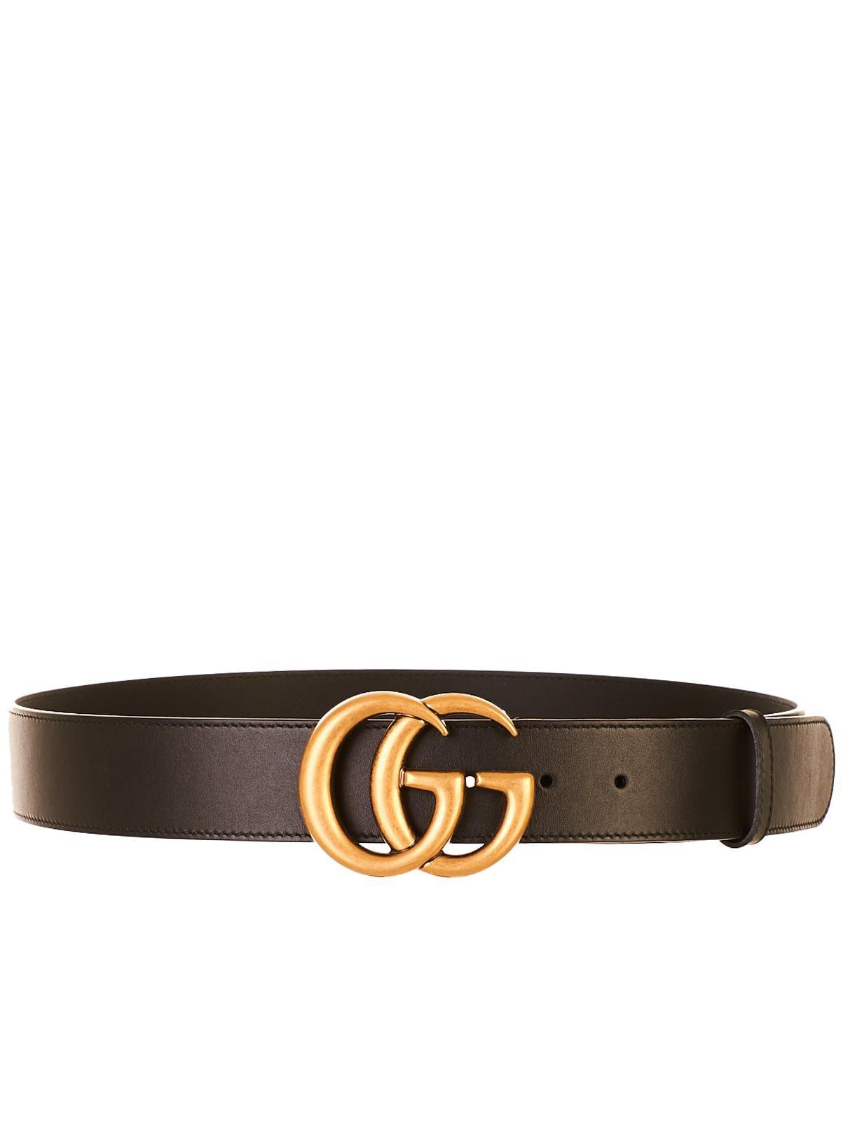 nuovo stile 4f6d7 0ae69 Gucci Multicolor Cintura GG Marmont Nera