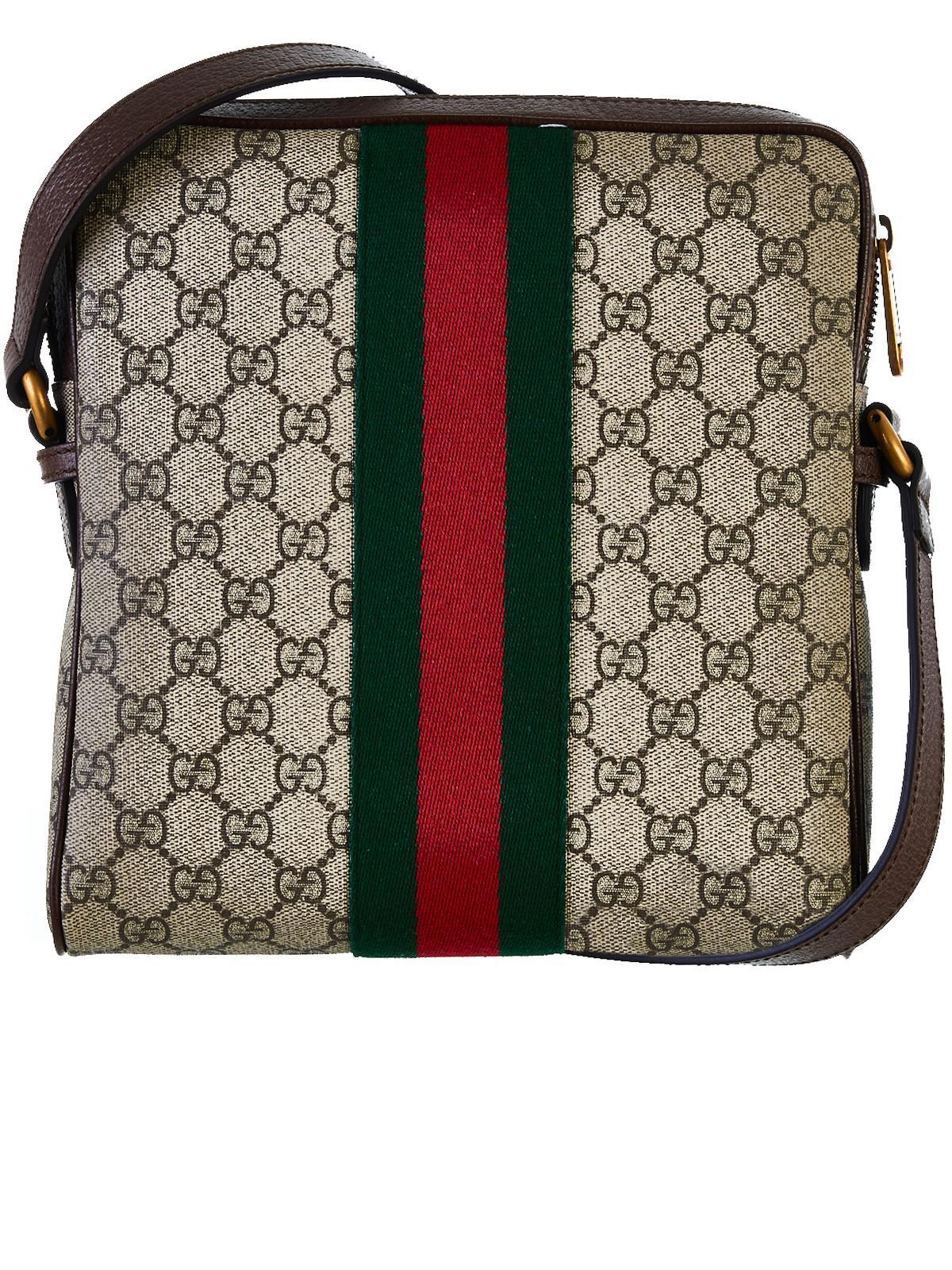 d43551dbb933 Gucci Web GG Supreme Messenger Bag - Lyst
