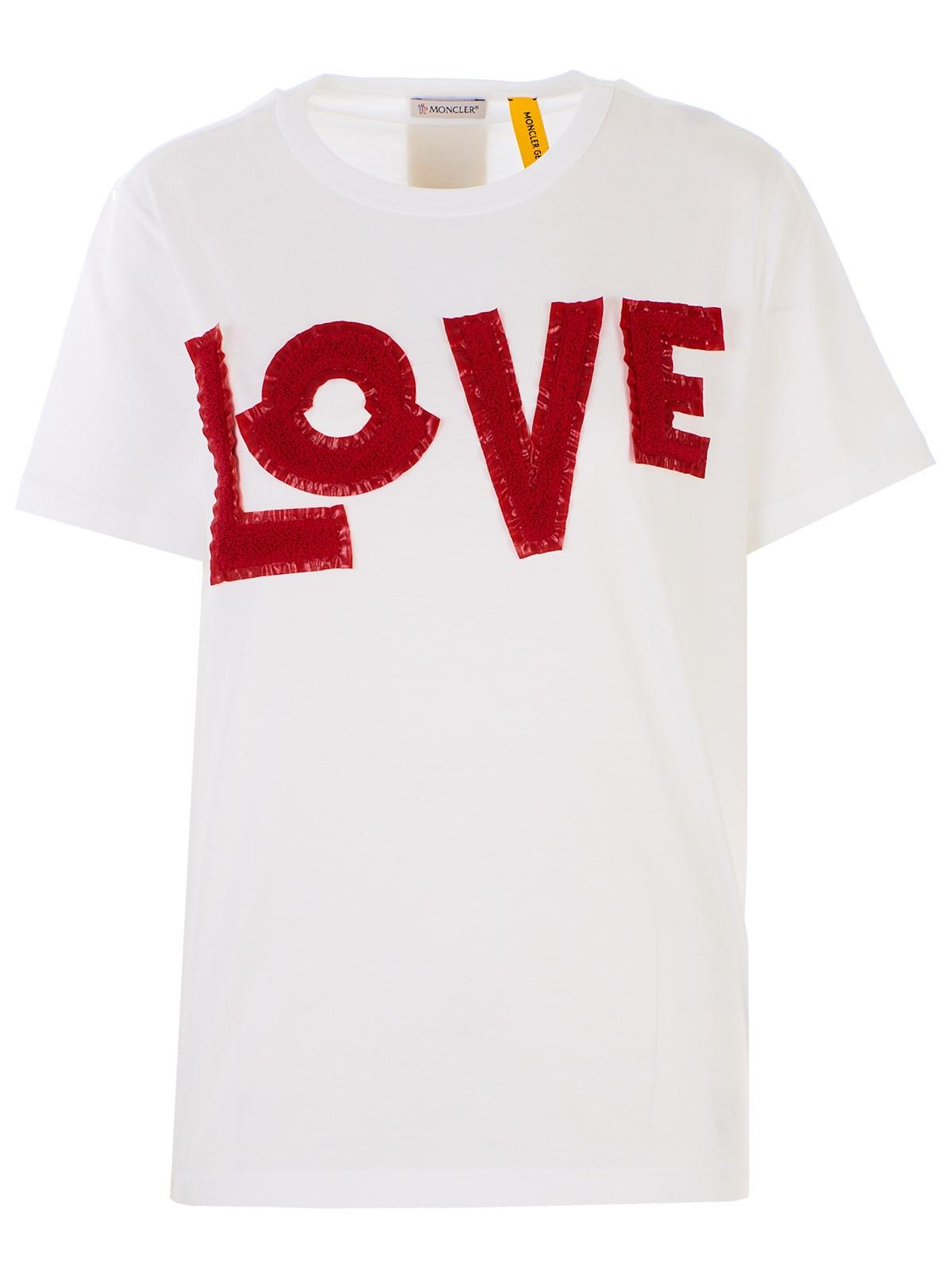 1b07851e Lyst - Moncler White T-shirt in White - Save 25%