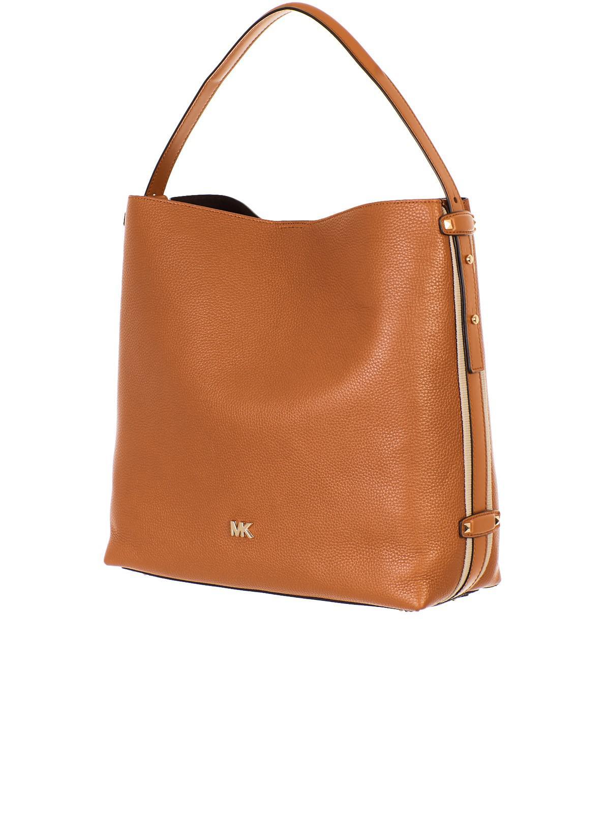 5f6224de4a639c Lyst - Michael Kors Brown Griffin Bag in Brown