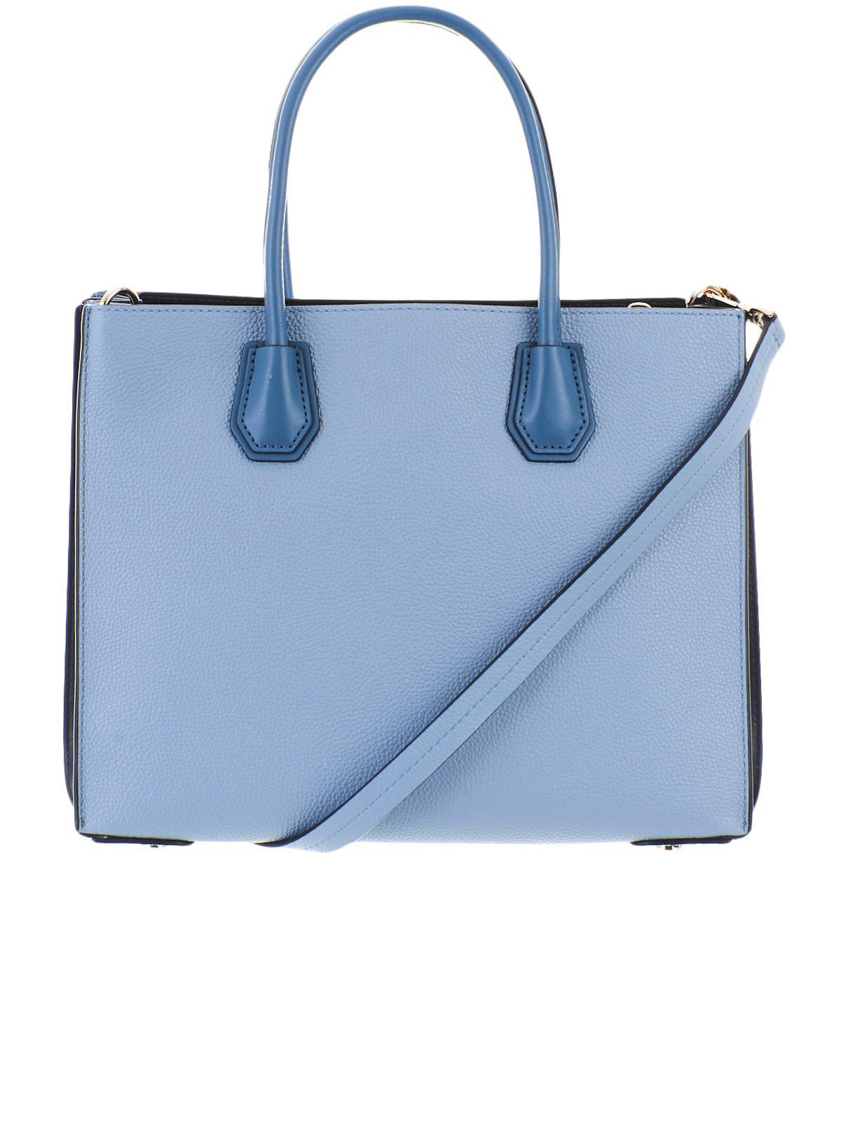 615da65e250f Lyst - Michael Kors Light Blue Mercer Lg Bag in Blue