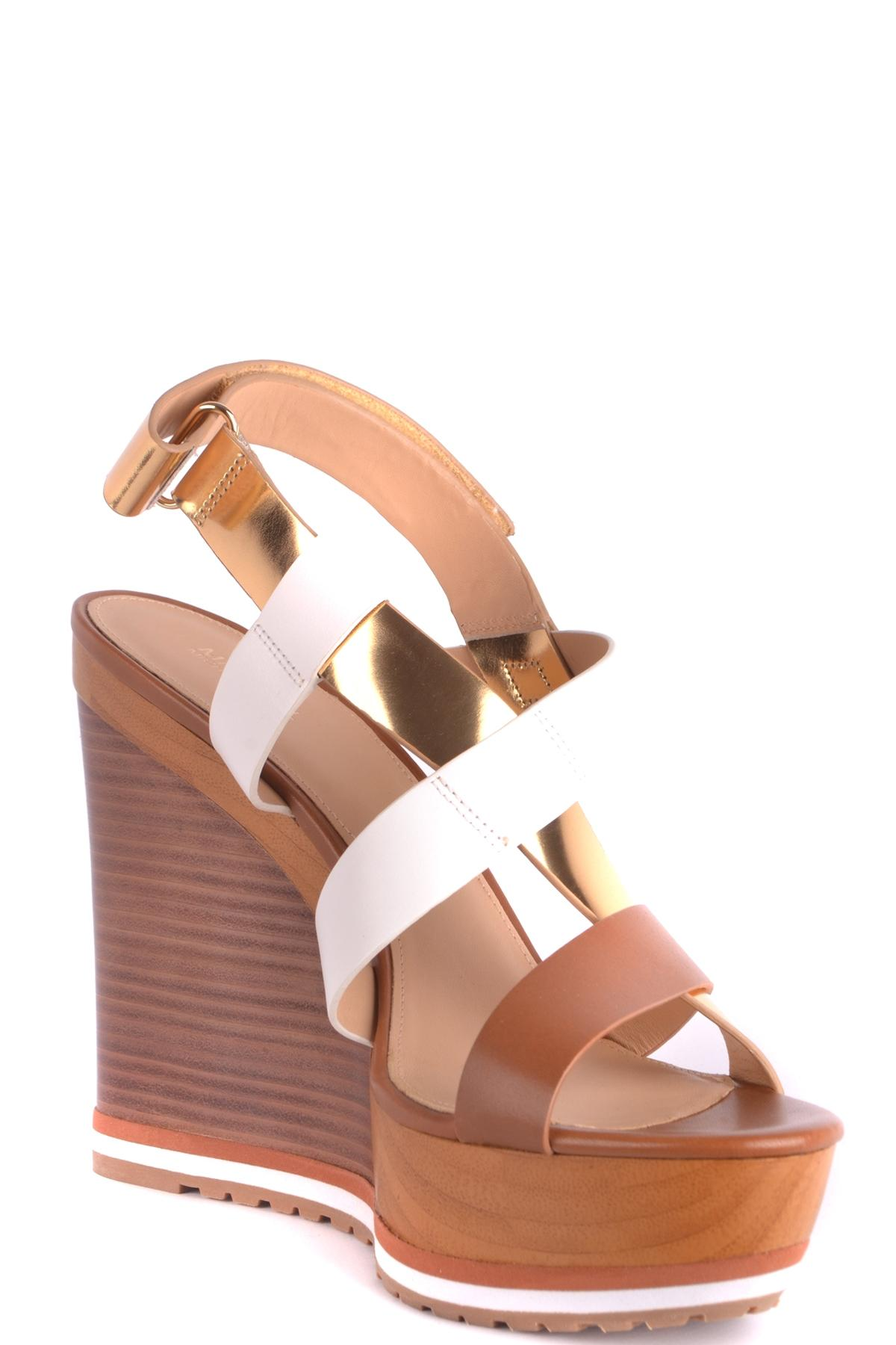 Lyst - Michael Michael Kors Darby Platform Sandals in Brown