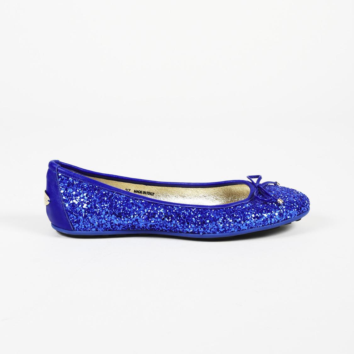 7fb2879f58c Lyst - Jimmy Choo Walsh Glitter Ballet Flats in Blue