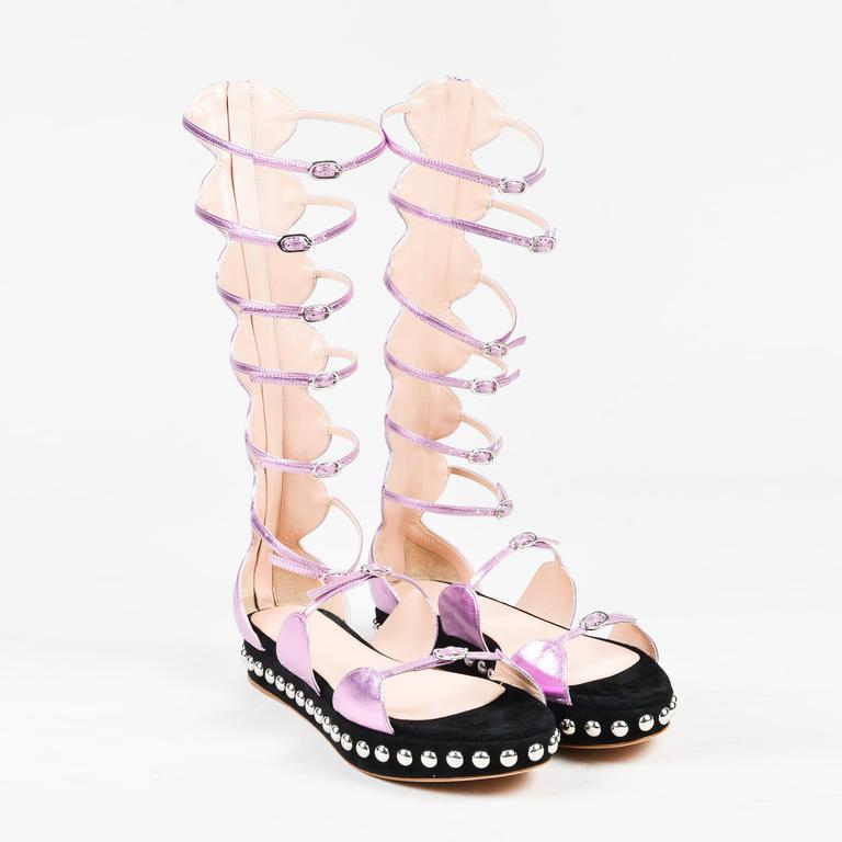 GIAMBATTISTA VALLI - Multi-lace polka dot strappy sandal