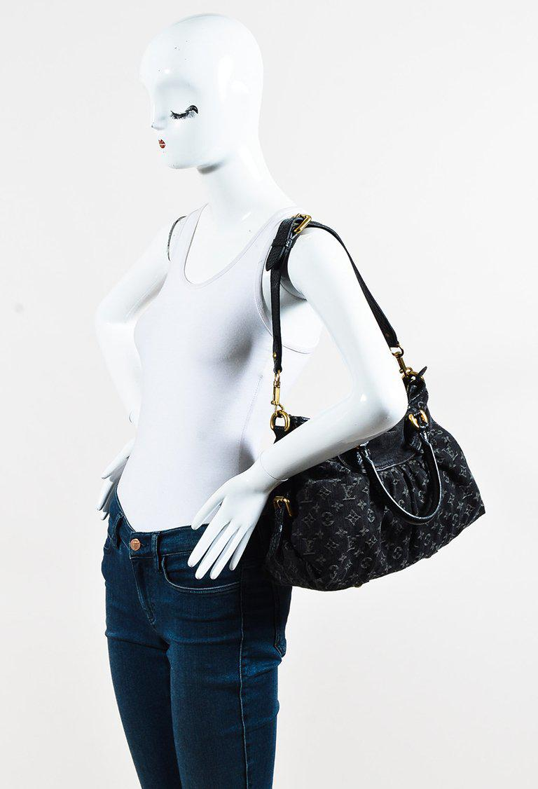 a366ffd2e43b Lyst - Louis Vuitton Black Monogram Denim