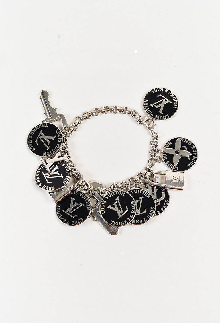 0ef2966e1fd5 Louis Vuitton Black   Silver Tone