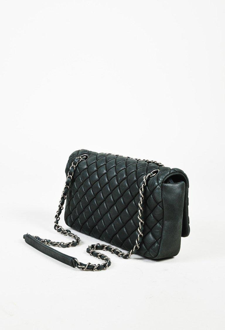2abb85447c3f Chanel Black Iridescent Calfskin Leather