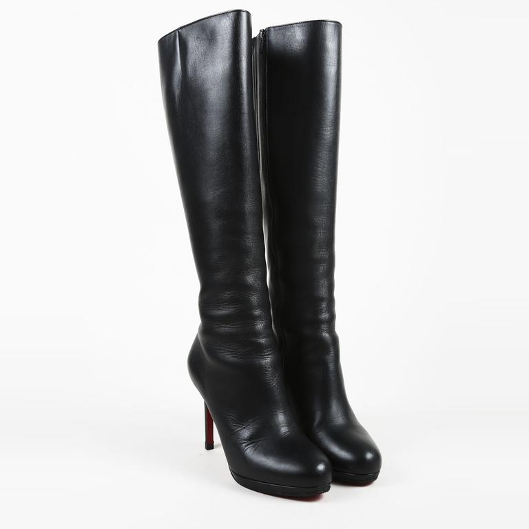 lowest price 16d8a 074c2 Christian Louboutin Black Leather