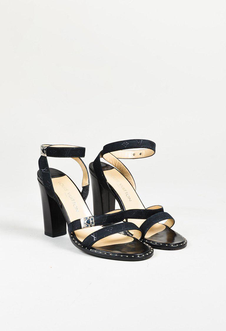 Louis Vuitton Black Leather 'lv