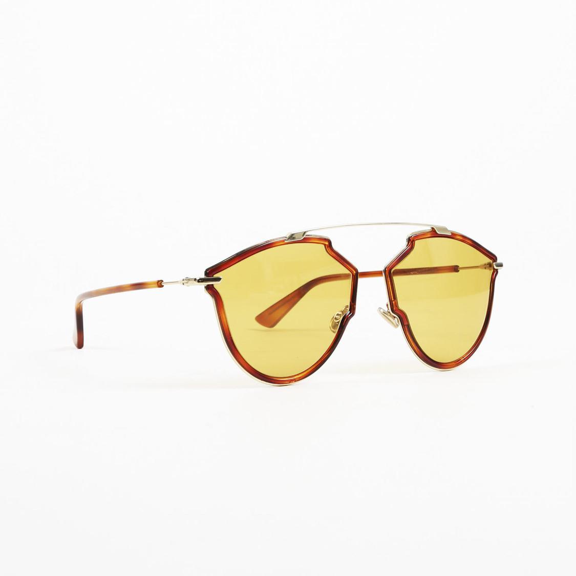 95ba4c57cc1 Lyst - Dior Brown Gold Tone