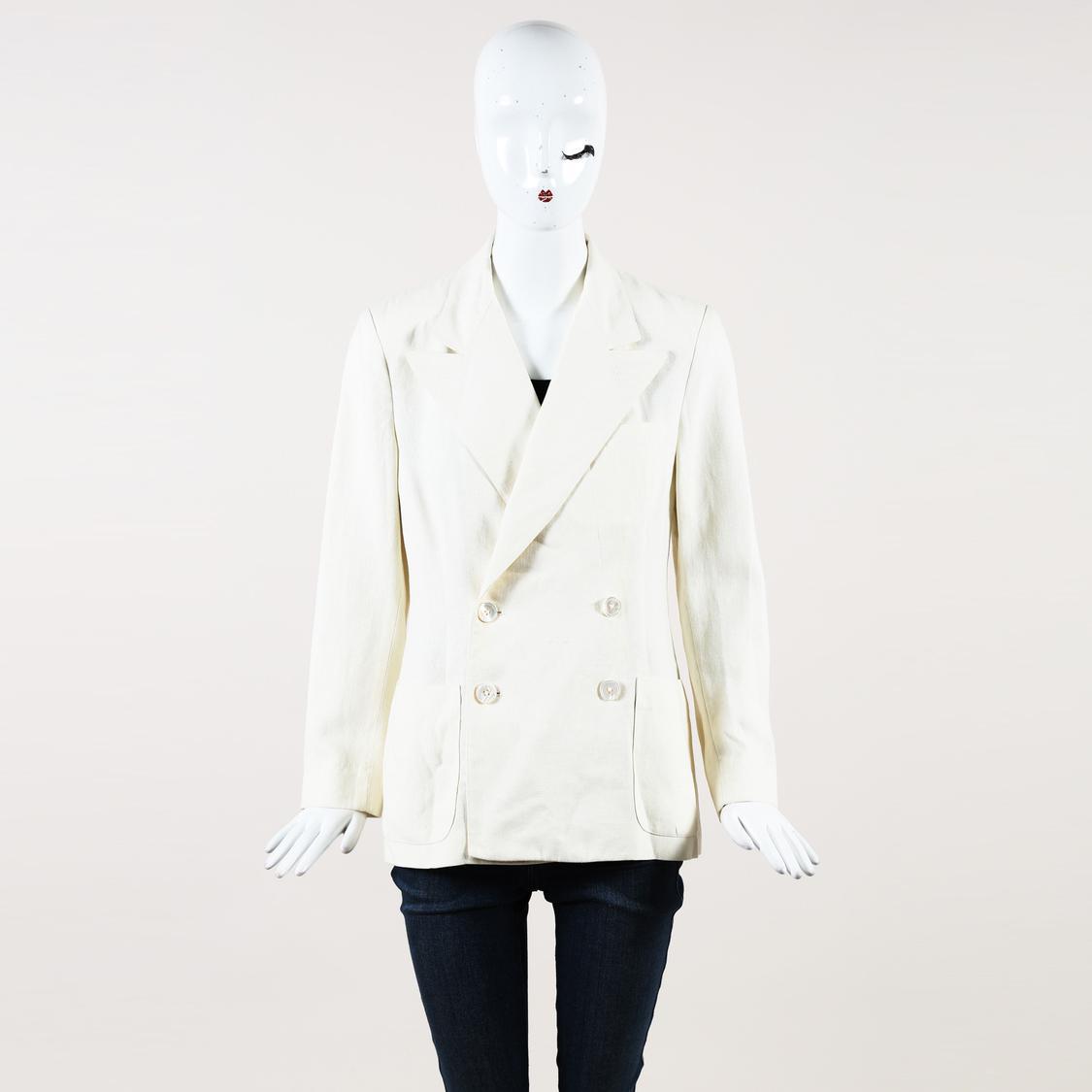 Ralph Lauren Collection Silk Double Breasted Blazer In