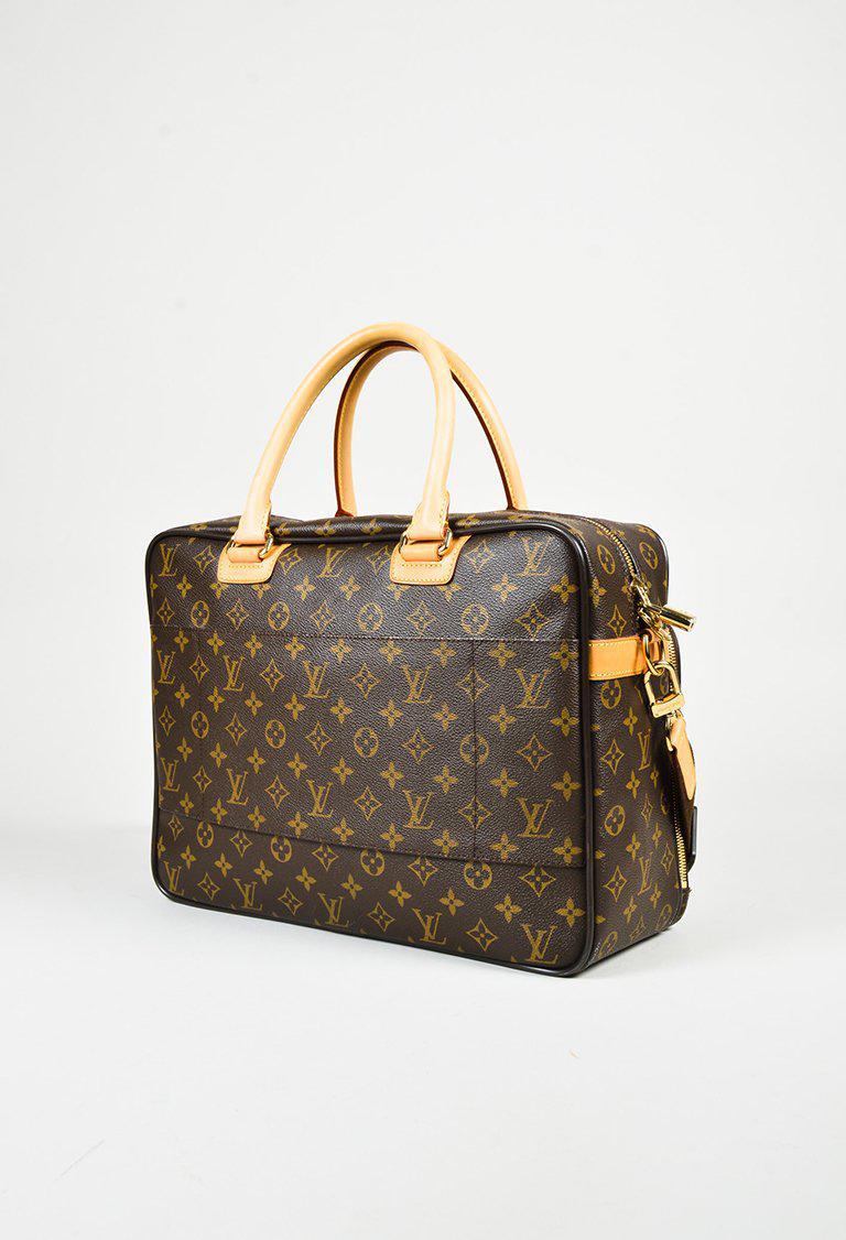 832cc890e8ae Lyst - Louis Vuitton Brown Monogram Canvas   Leather