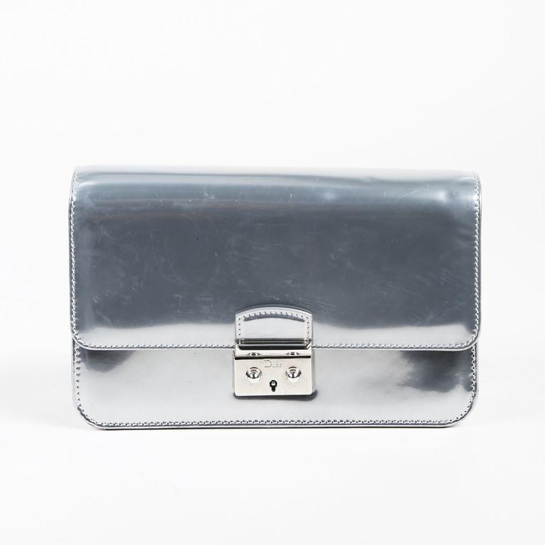 ac5bfd98c328 Dior. Women s Metallic Silver Mirror Leather Miss Dior Promenade Crossbody  Bag