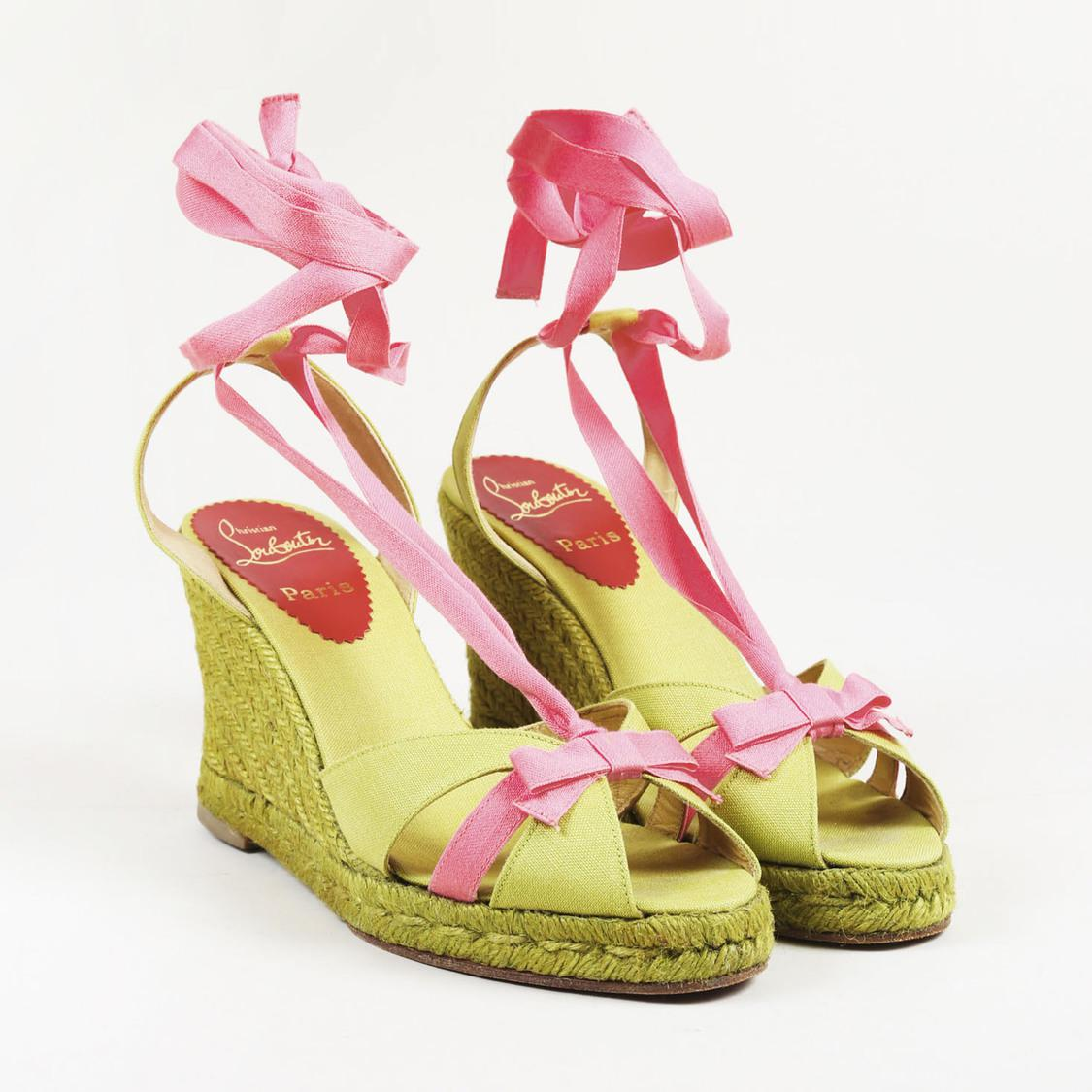 pink and green louboutin