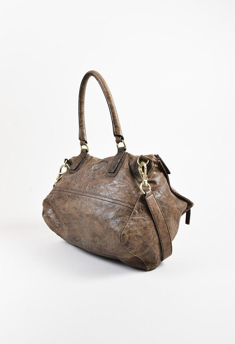 Lyst - Givenchy Brown Crinkled Sheepskin Leather