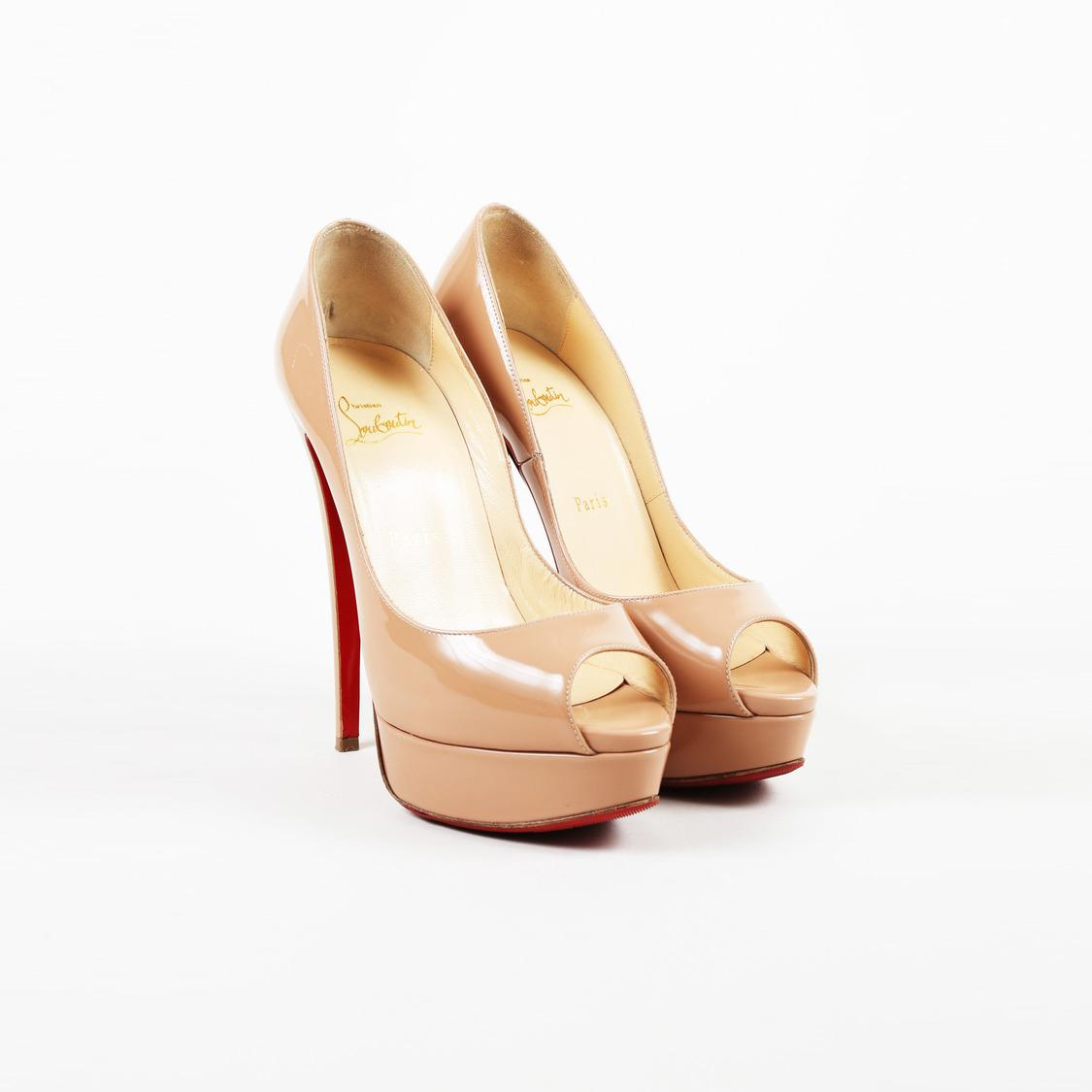 fc9e93ae5122 Christian Louboutin. Women s Natural Nude Patent Leather