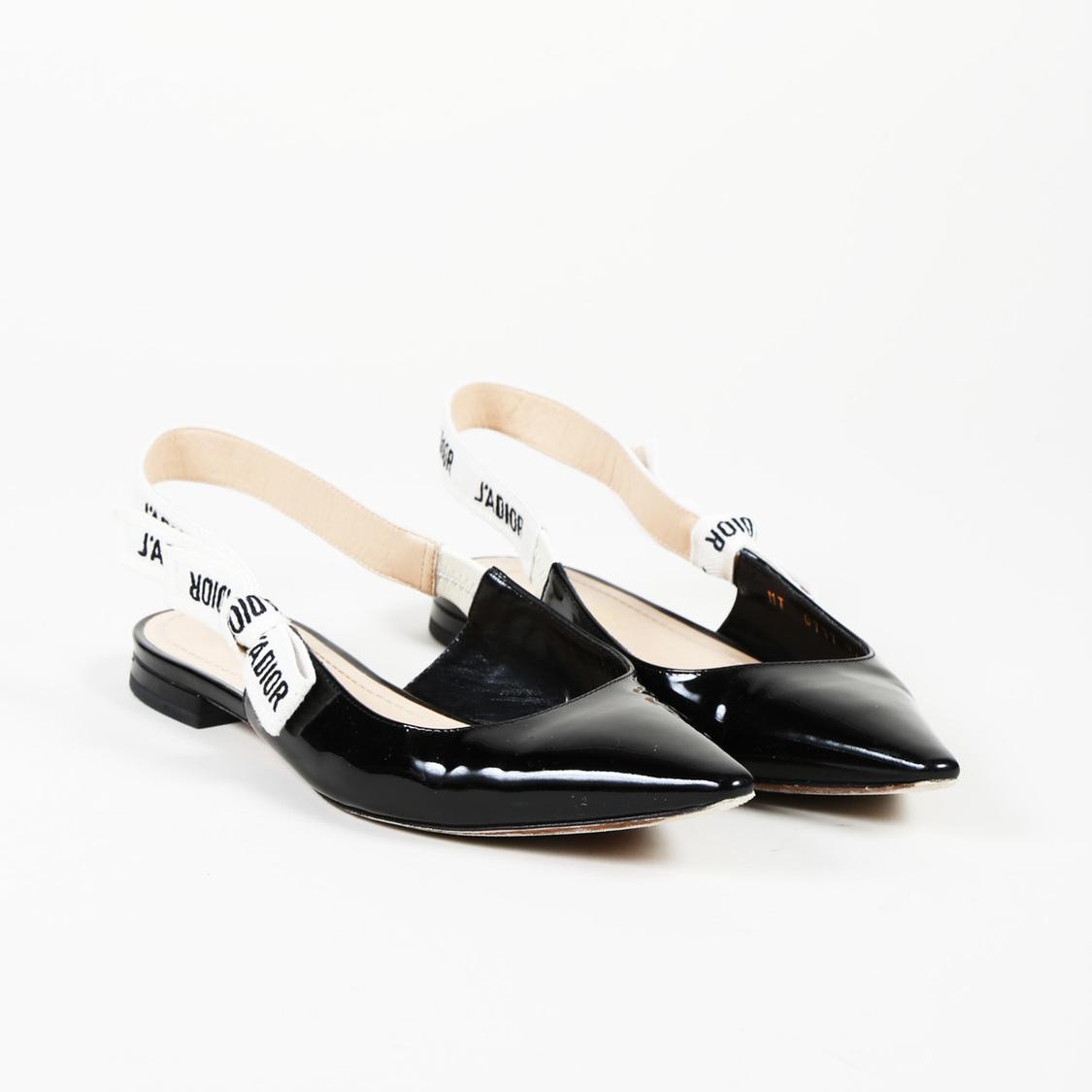 Dior J'a Black Patent Leather Ballet