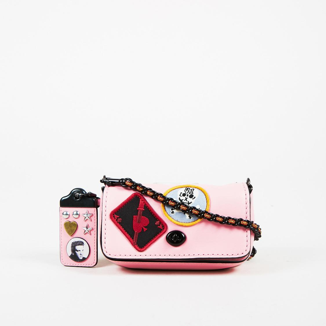 COACH Pink Multi Leather Patch Embellished