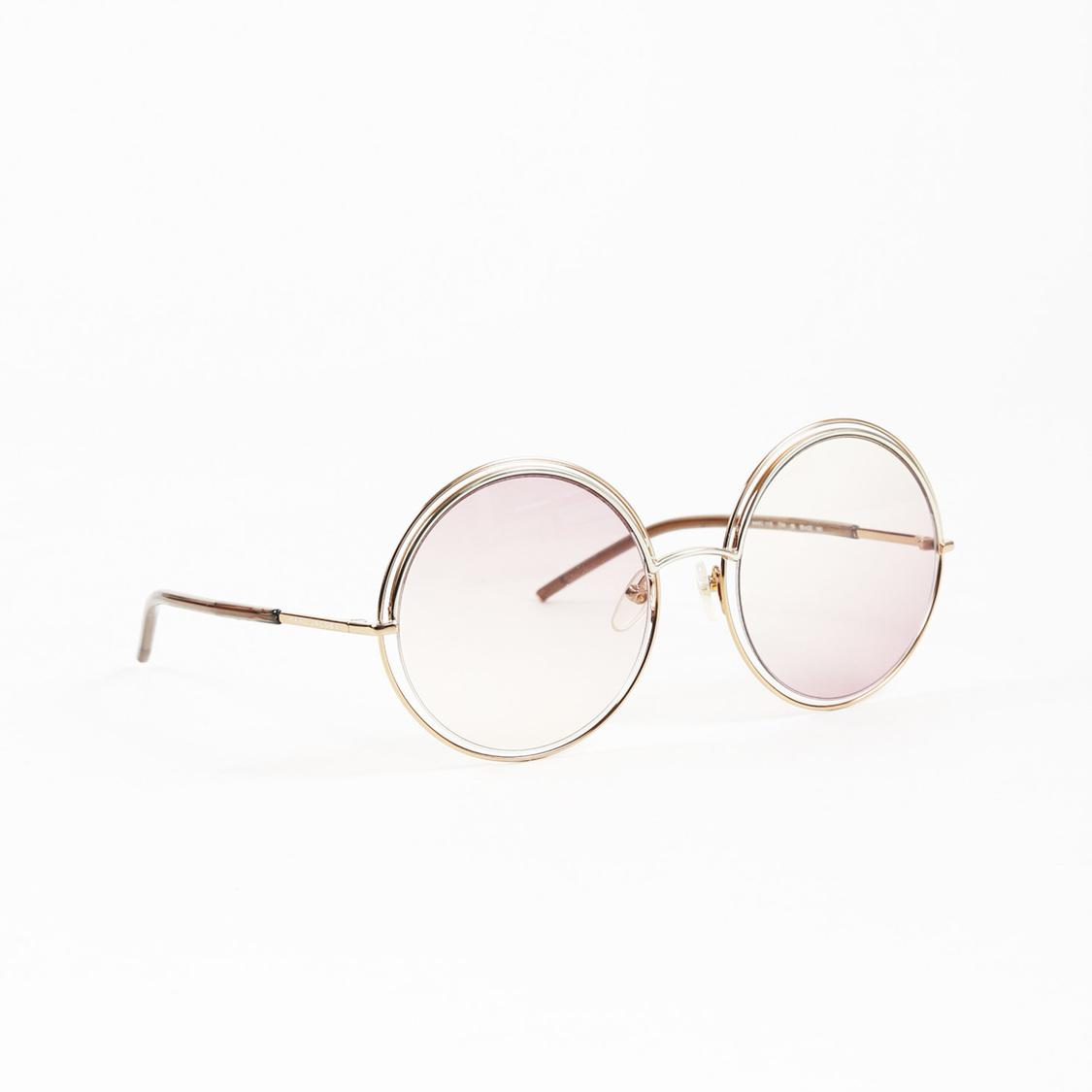 d28500f2ac1 Marc Jacobs Rose Gold Tone Metal Round Sunglasses in Pink - Lyst