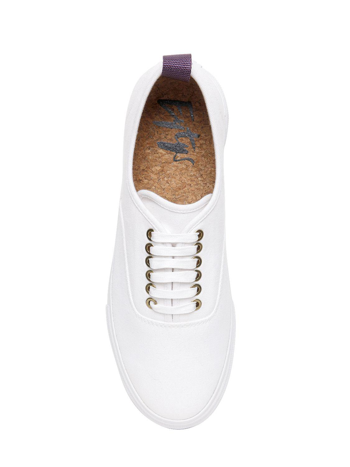 "Eytys Canvas Sneakers ""mother"" In Tela Di Cotone Con Plateau in White"